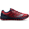saucony Peregrine 7 Running Shoes Men Red/Navy